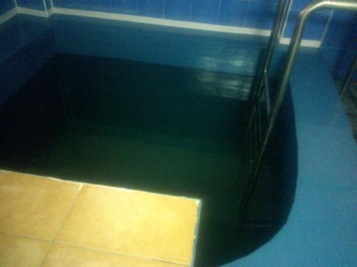 3. Бесшовная гидроизоляция бассейна полимочевиной.